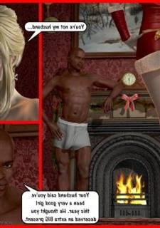 Darklord – Blonde xmas -3D Interracial Sex