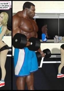 Gym Slut Fuck – Darklord,  Interracial Sex