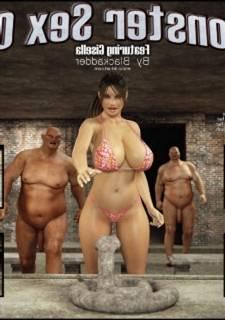 3D Porn Comics-Blackadder Monster Sex 04